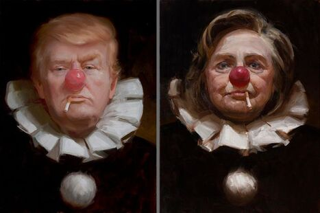 Trump and Hilary clown